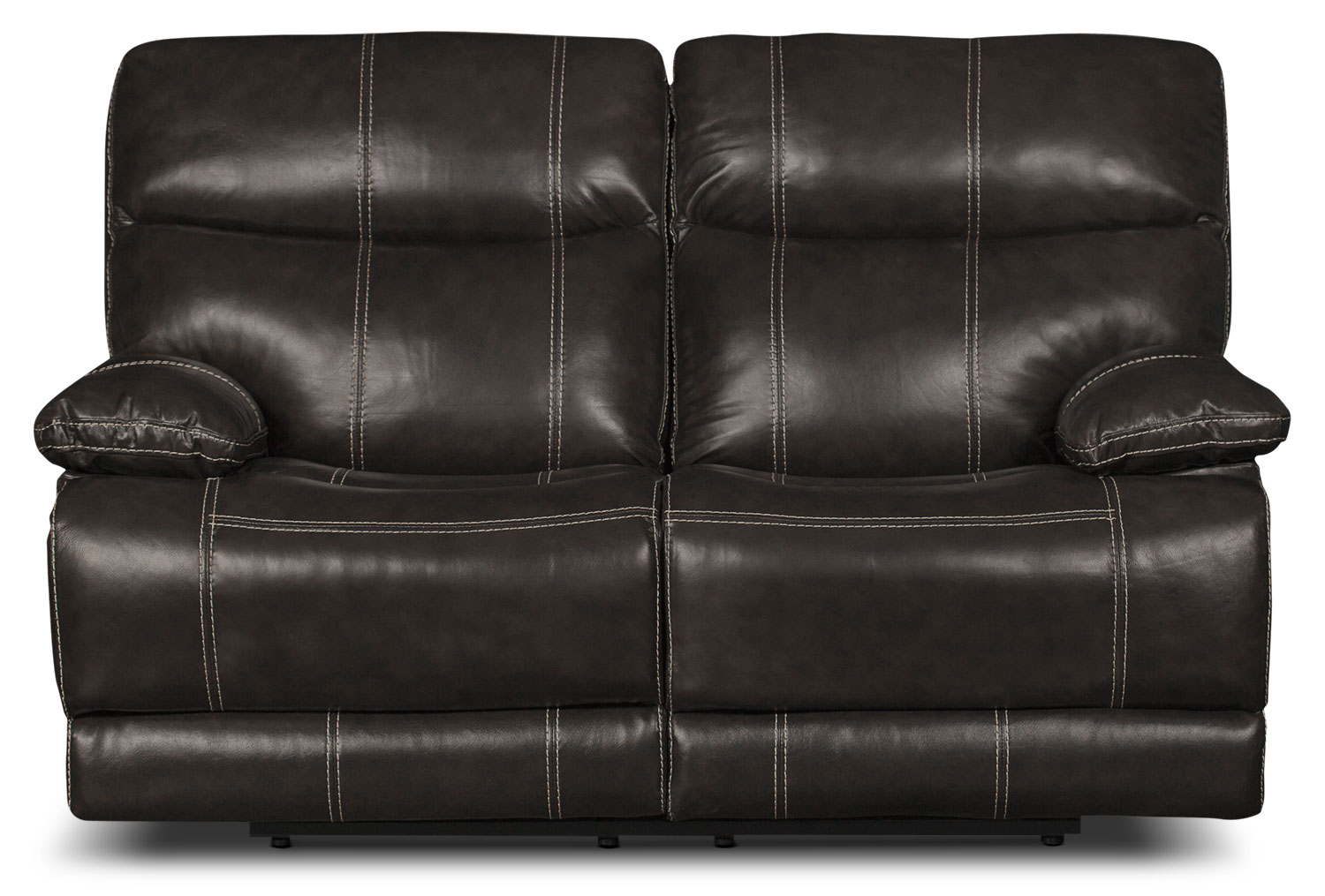 Gavin Genuine Leather Reclining Loveseat – Grey