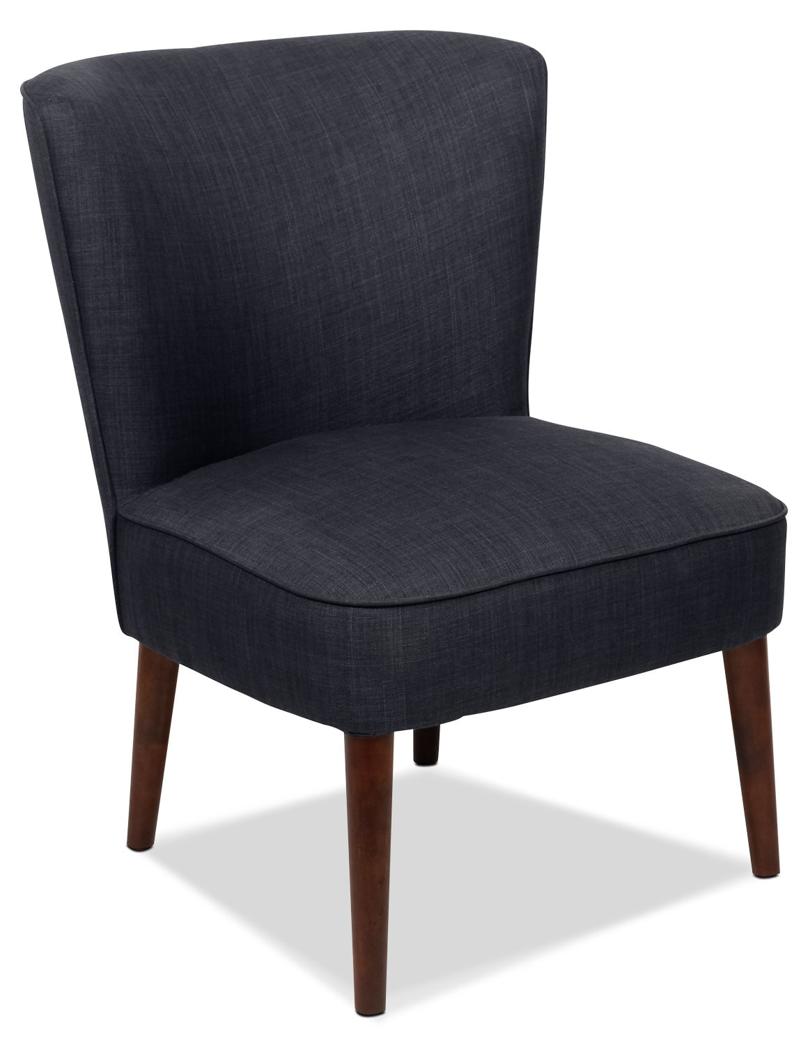 sophie linen look fabric accent chair denim the brick