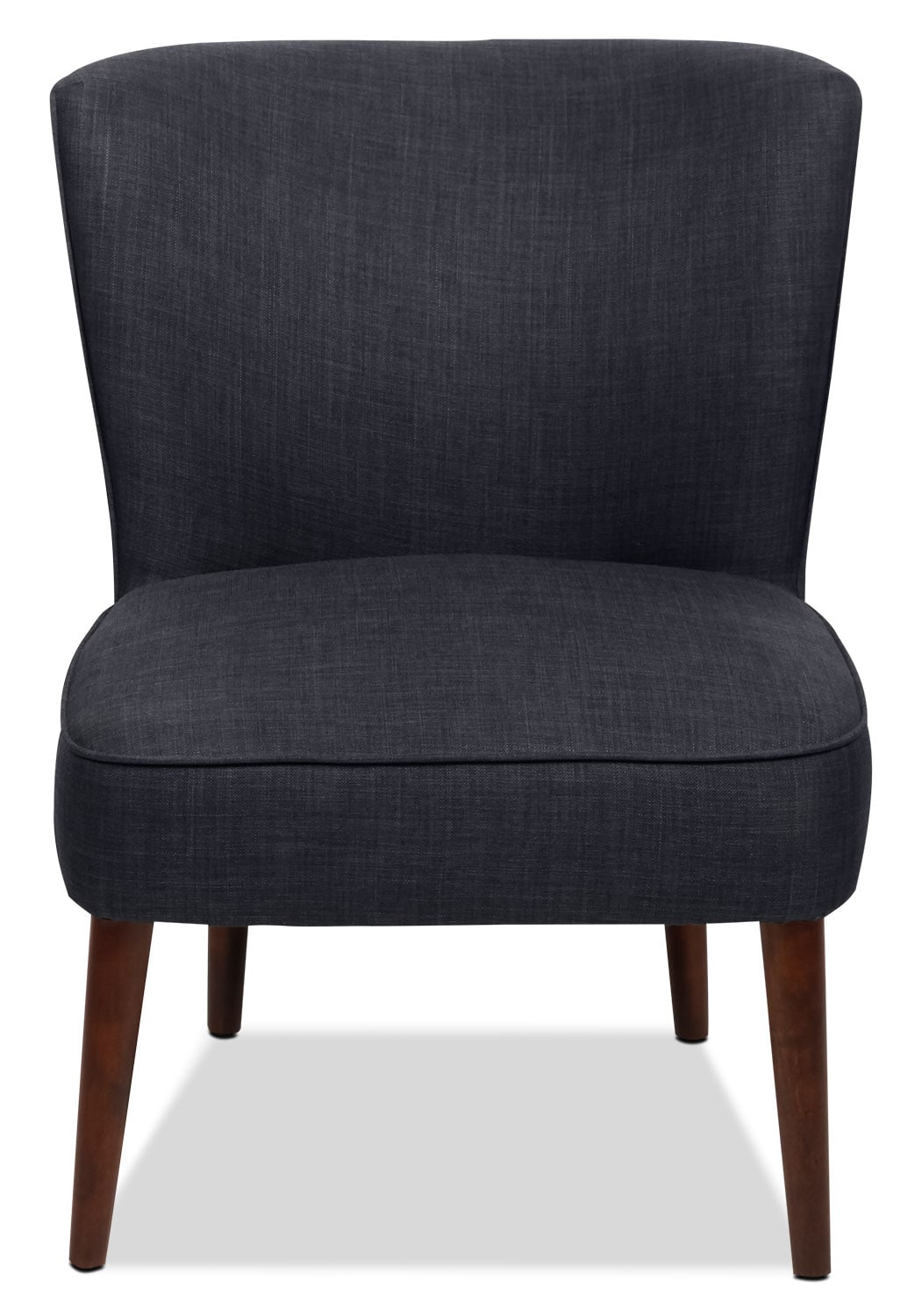 sophie linen look fabric accent chair denim united