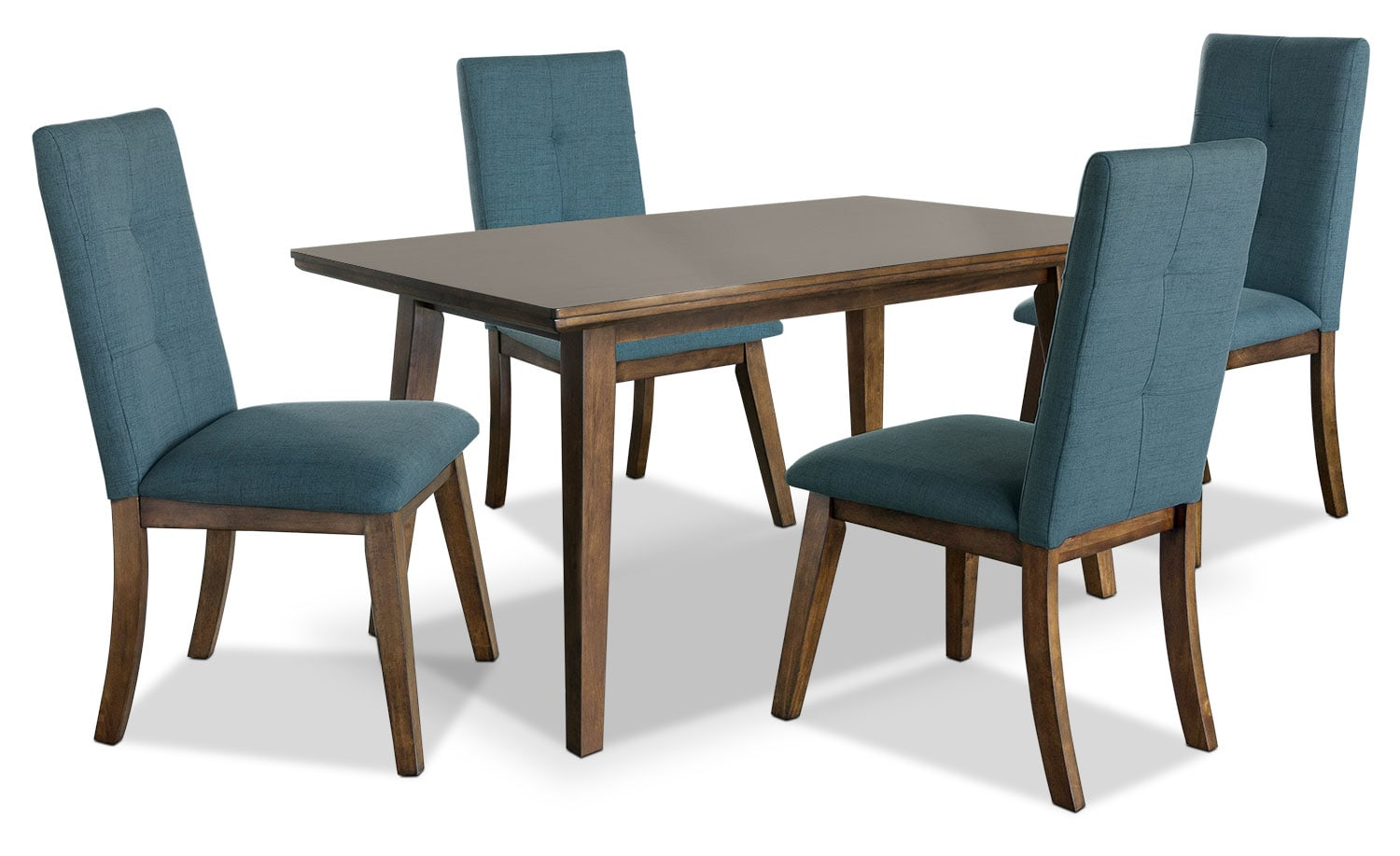 Chelsea 5-Piece Dining Package with Aqua Chairs