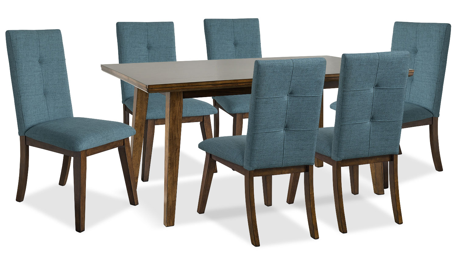 Dining Room Furniture - Chelsea 7-Piece Dining Package with Aqua Chairs