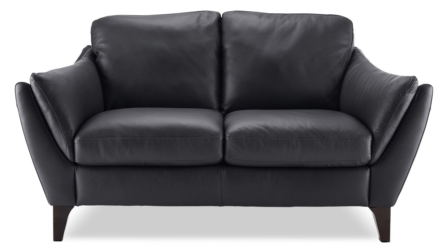 Living Room Furniture - Natuzzi Editions Denver Genuine Leather Loveseat – Anthracite