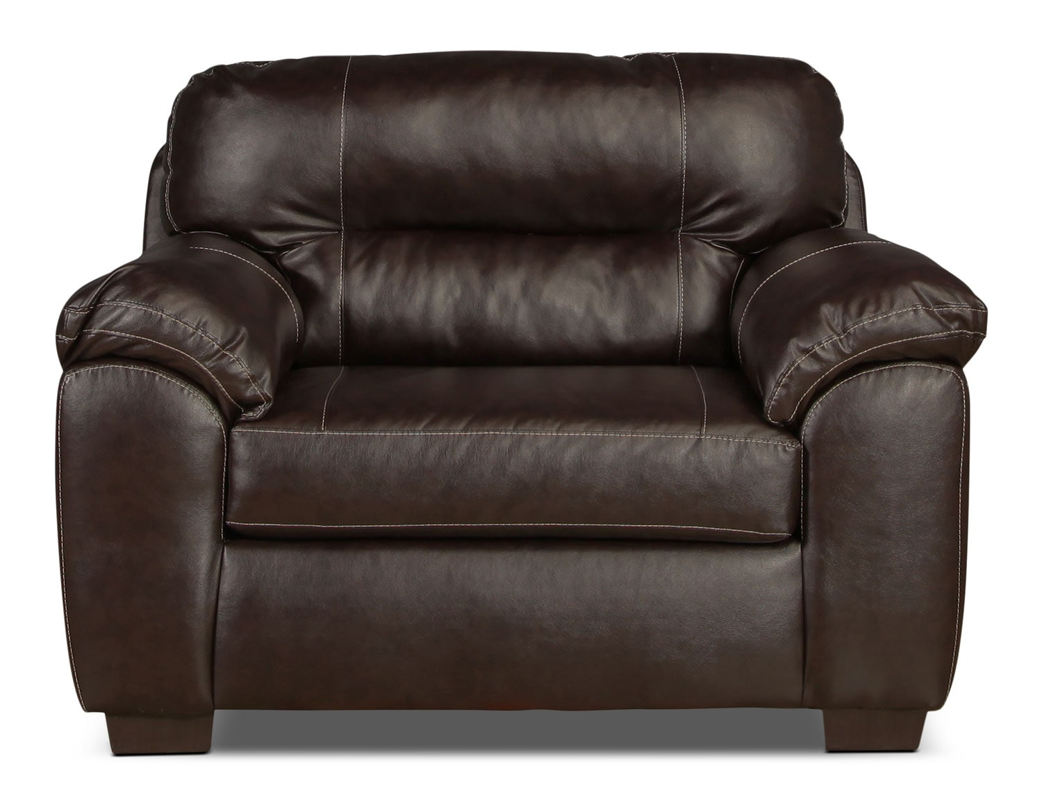 Living Room Furniture - Rigley Chair - Chocolate
