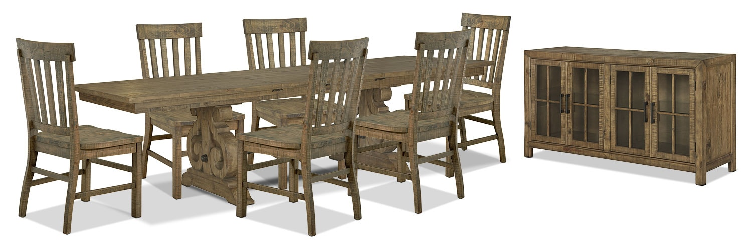 Dining Room Furniture - Keswick 8-Piece Dining Package
