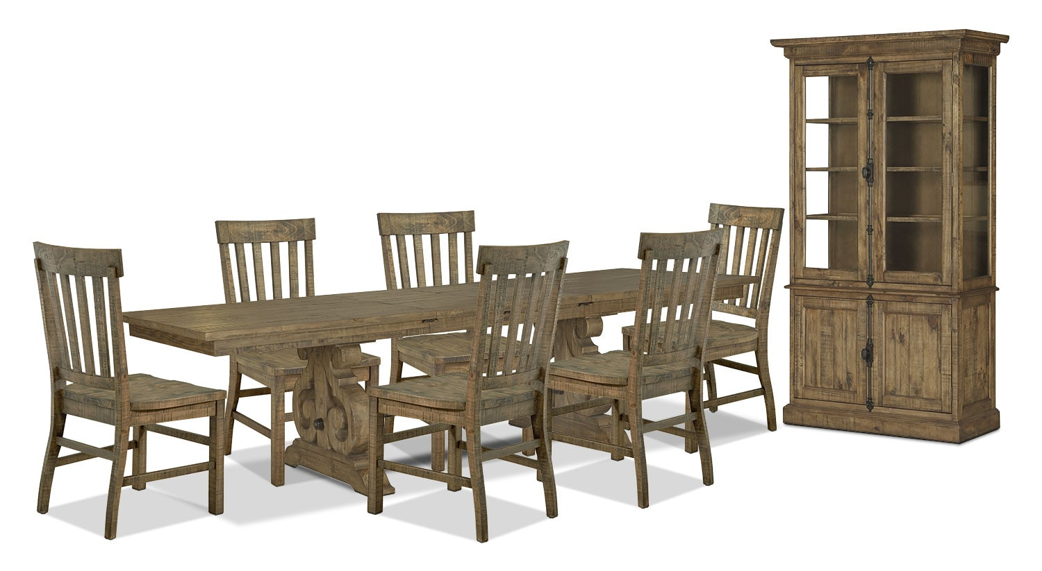 Dining Room Furniture - Keswick 9-Piece Dining Package