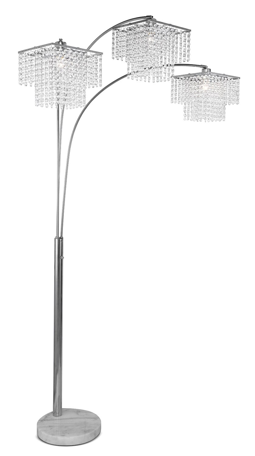 Crystal Glam Arc Lamp