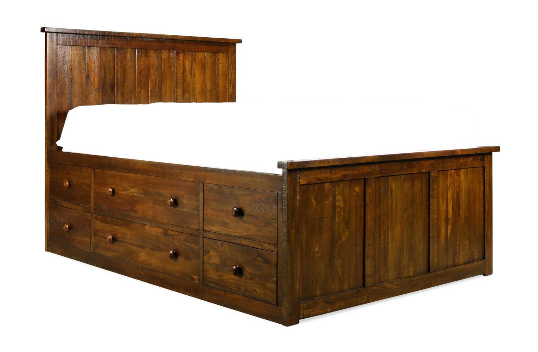 bedroom furniture weston queen storage bed mahogany - Mahogany Bed Frame