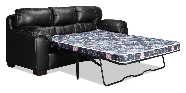 Rigley Queen Sleeper Sofa Black Levin Furniture