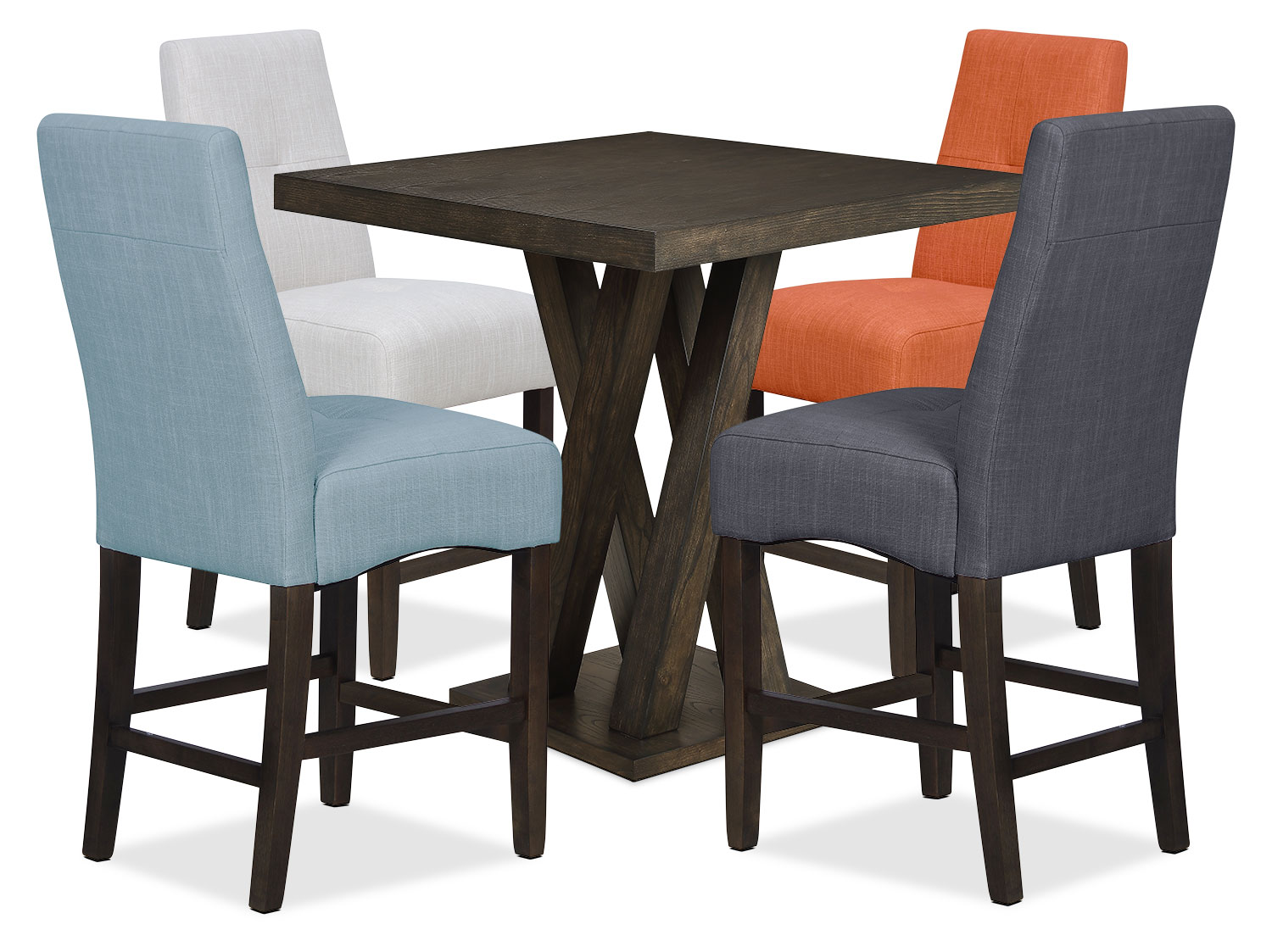 Dining Room Furniture - Soho 5-Piece Counter-Height Dining Package – Assorted Colours