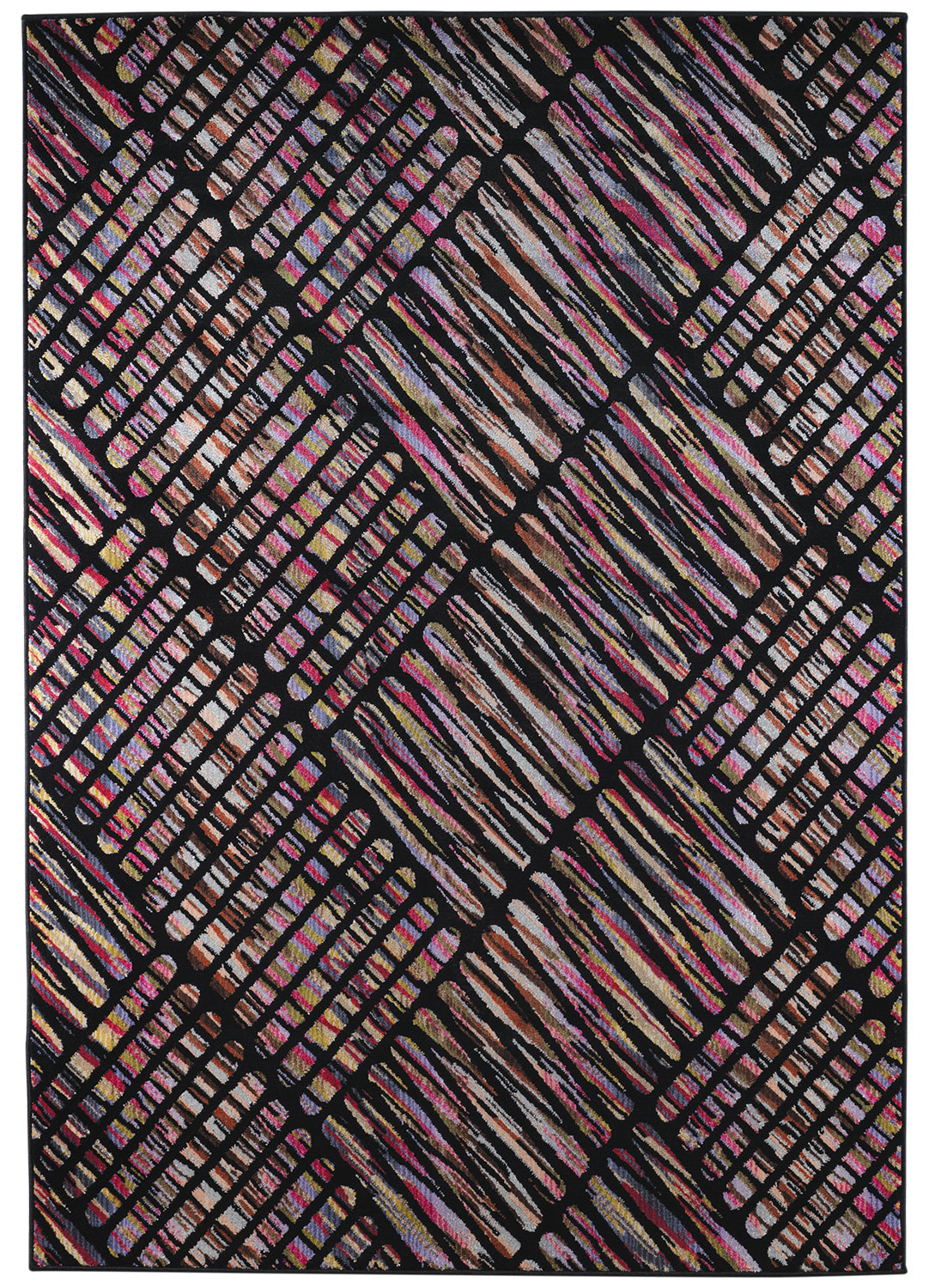 Kiley 5' x 8' Area Rug - Candy Black