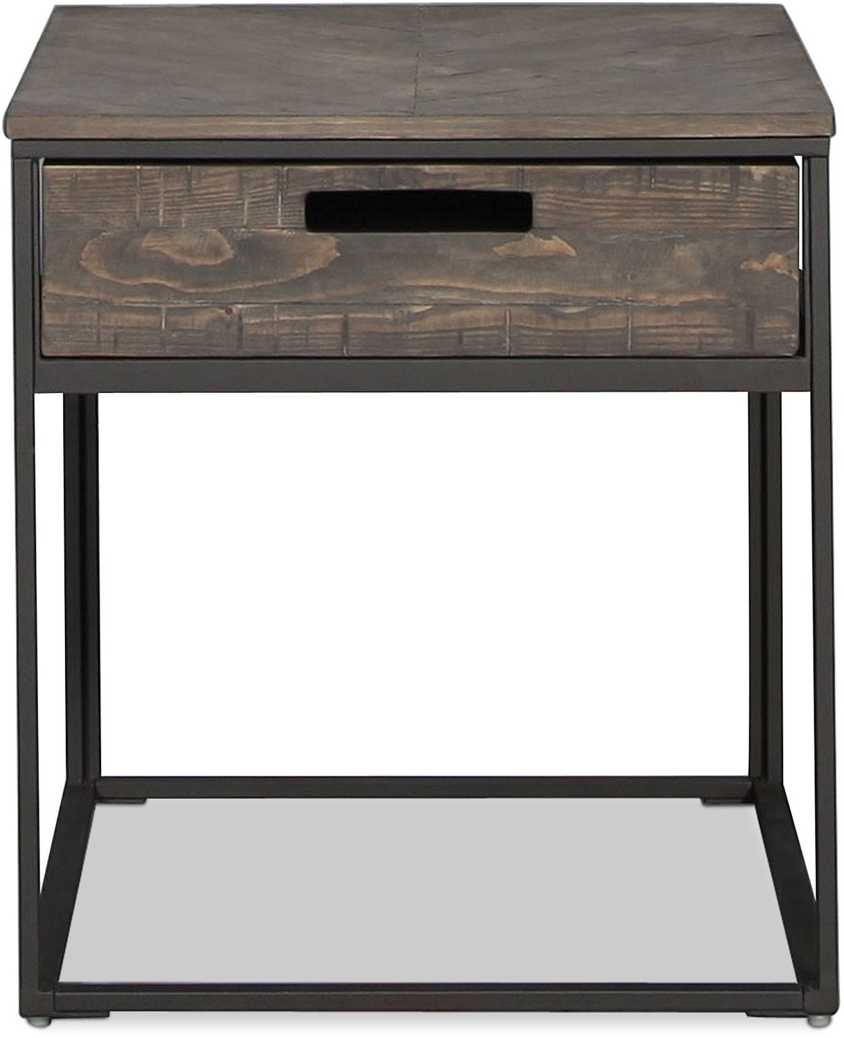 Claremont End Table - Charcoal