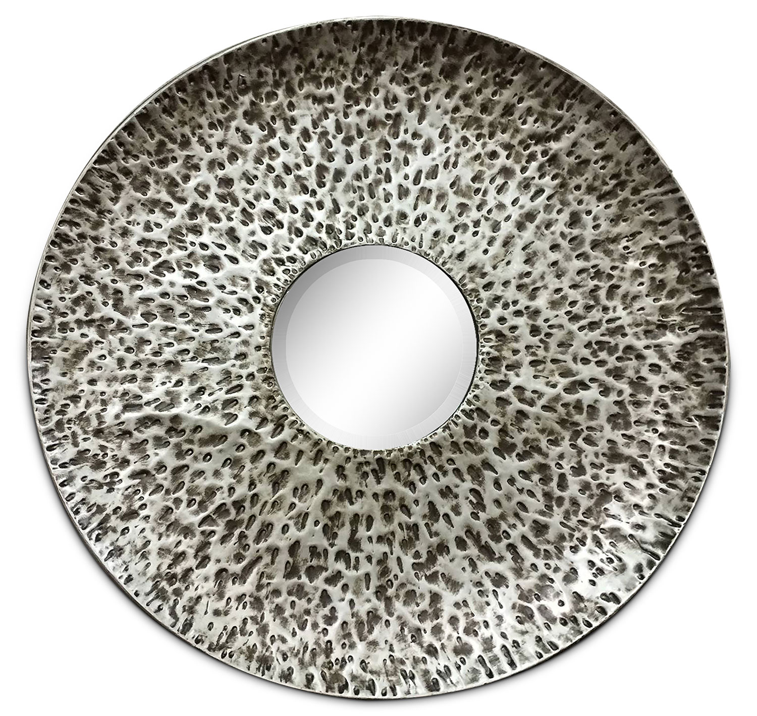 "Accent and Occasional Furniture - Dove 35"" Round Mirror - Chrome"