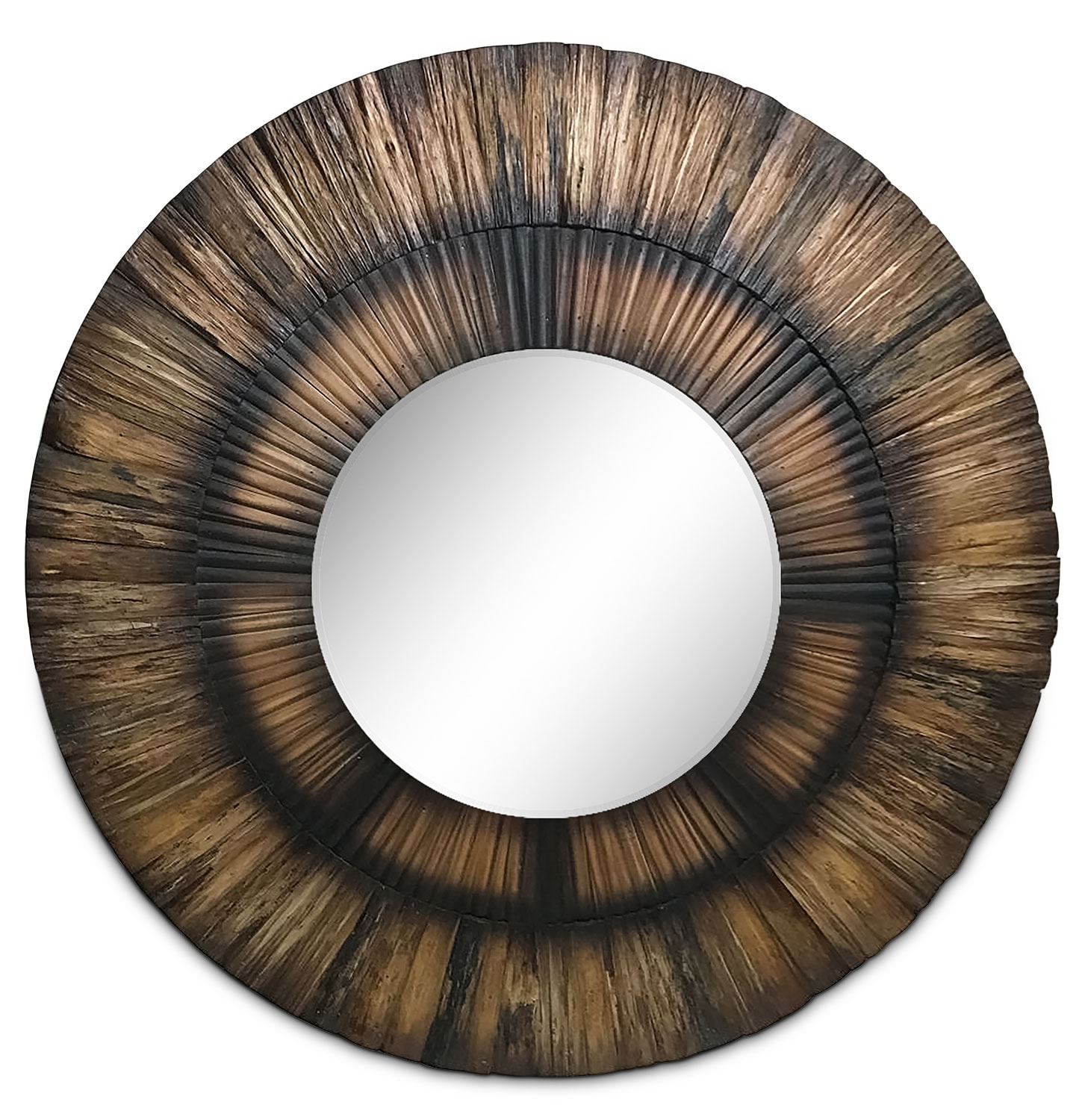 "Accent and Occasional Furniture - Sparrow 35"" Round Mirror - Wood"