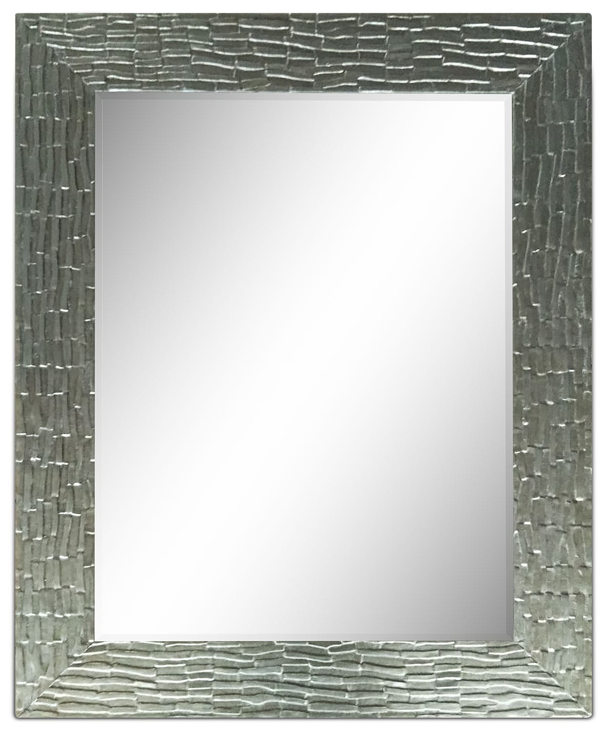 "Accent and Occasional Furniture - Tenton Leaf Mirror (36"" x 44"") - Silver"