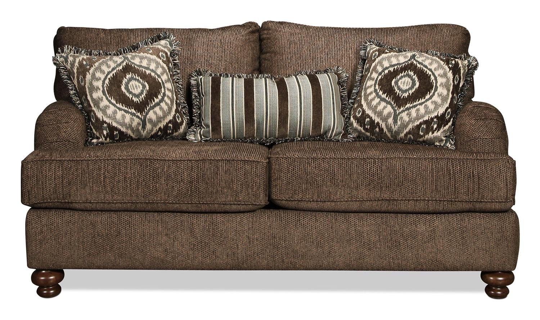 Living Room Furniture - Baker Loveseat - Latte