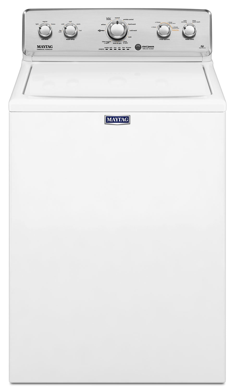 Washers and Dryers - Maytag White Top-Load Washer (4.2 Cu. Ft. IEC) - MVWC416FW
