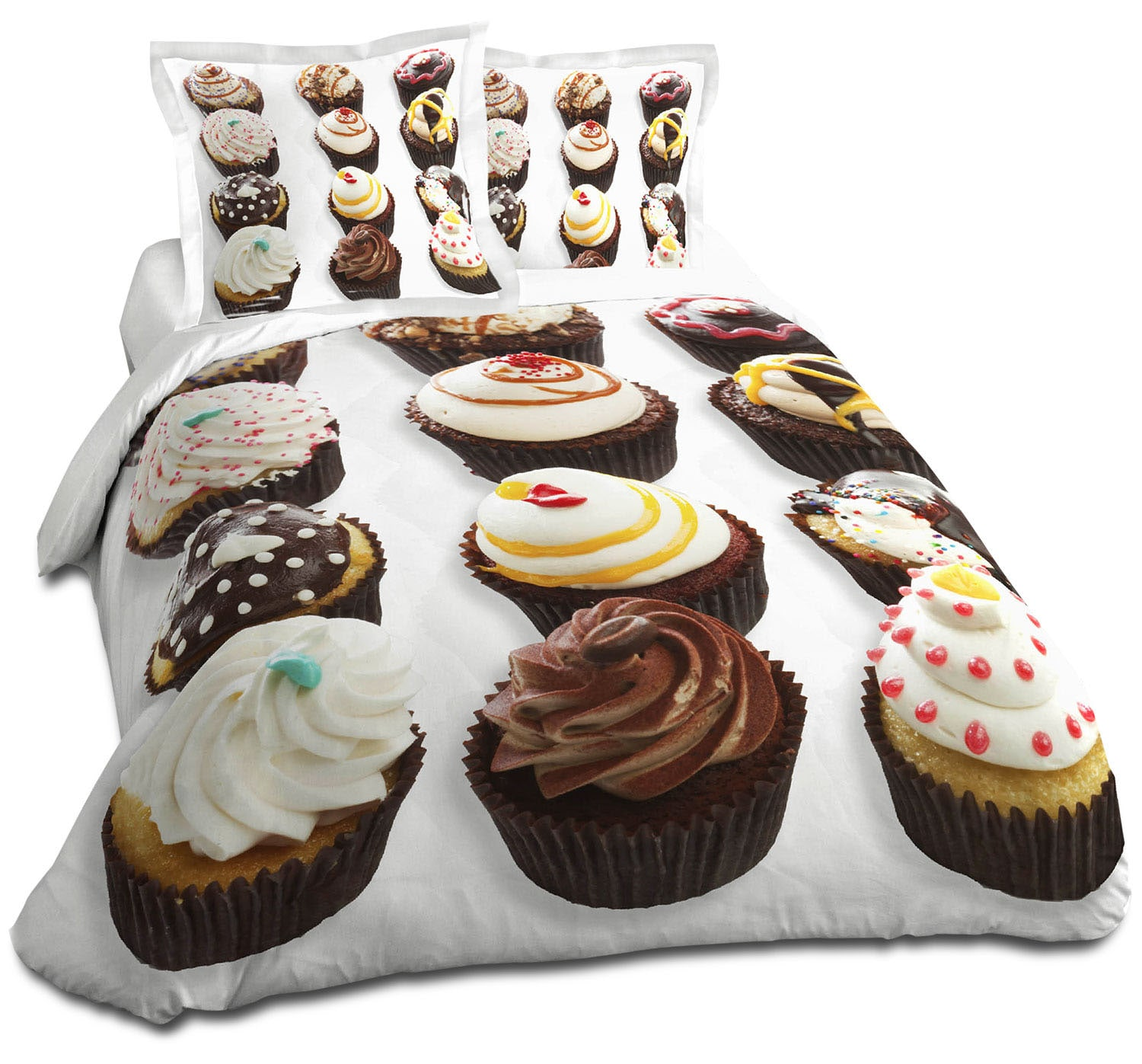 Mattresses and Bedding - Cupcakes 4-Piece Full Comforter Set