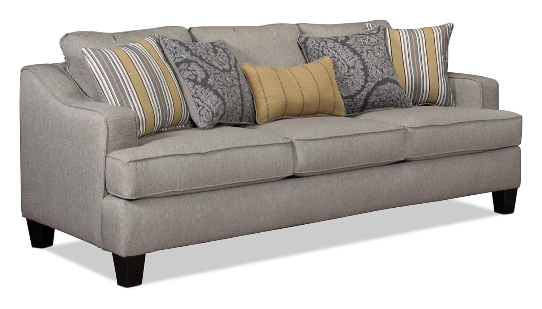 Wilmington sofa platinum levin furniture for Levin furniture sectional sofa