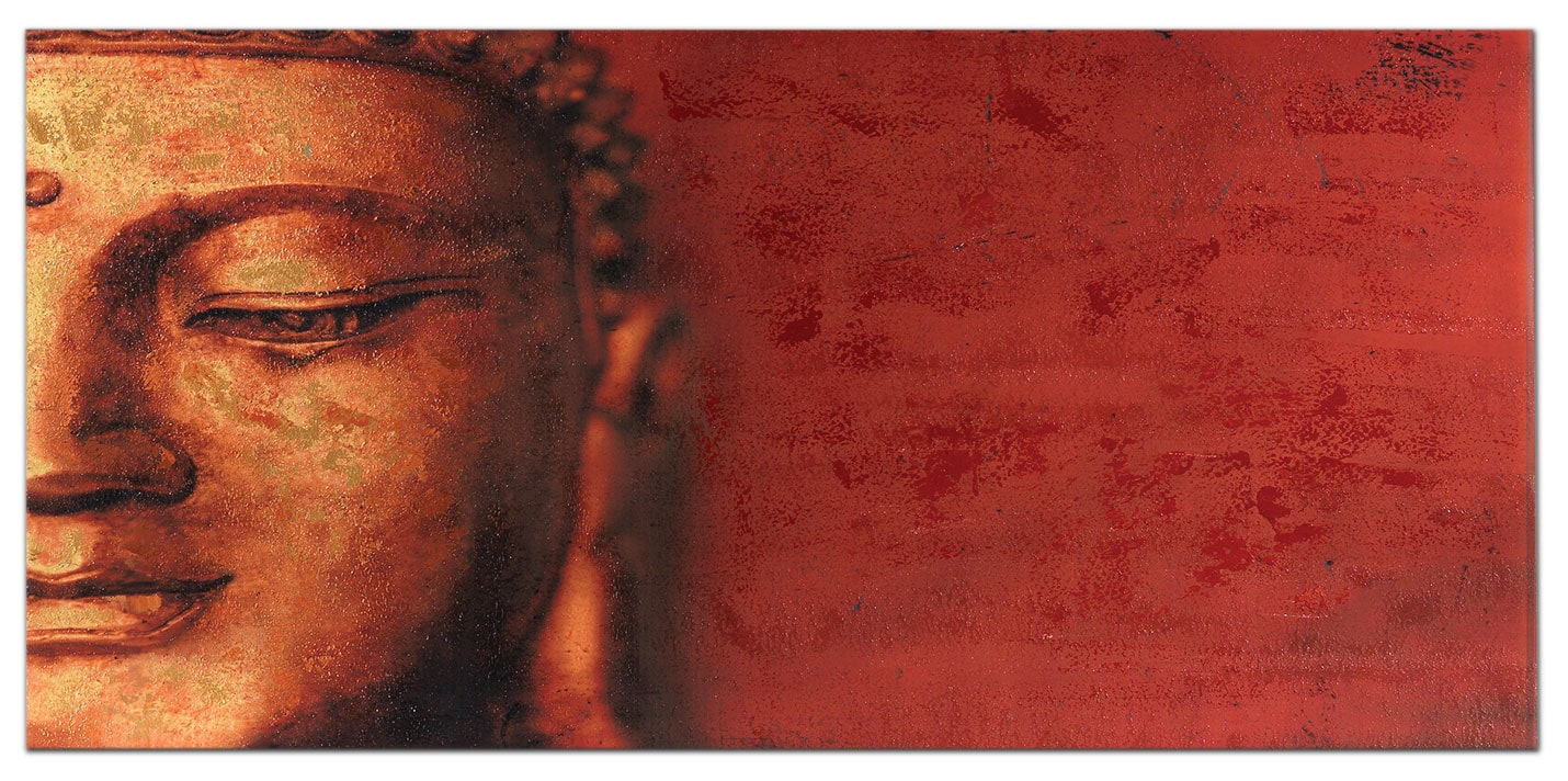 """Accent and Occasional Furniture - Smiling Buddha Canvas Art (58"""" X 28"""")"""