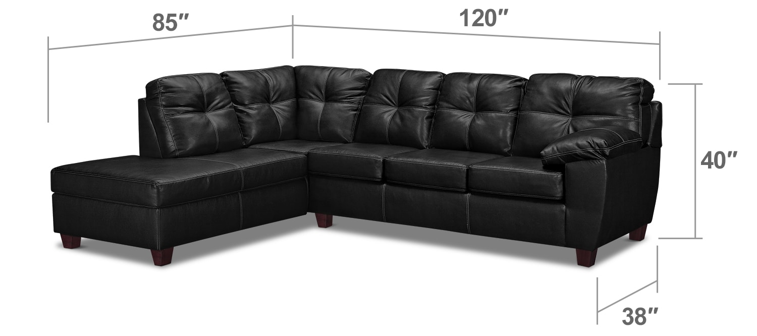 Rialto 2 Piece Innerspring Sleeper Sectional With Left