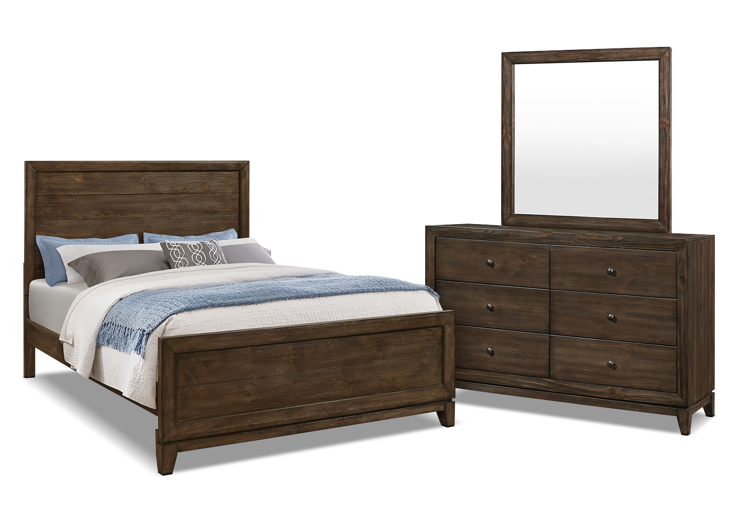 Bedroom Furniture - Tacoma 5-Piece Queen Bedroom Package
