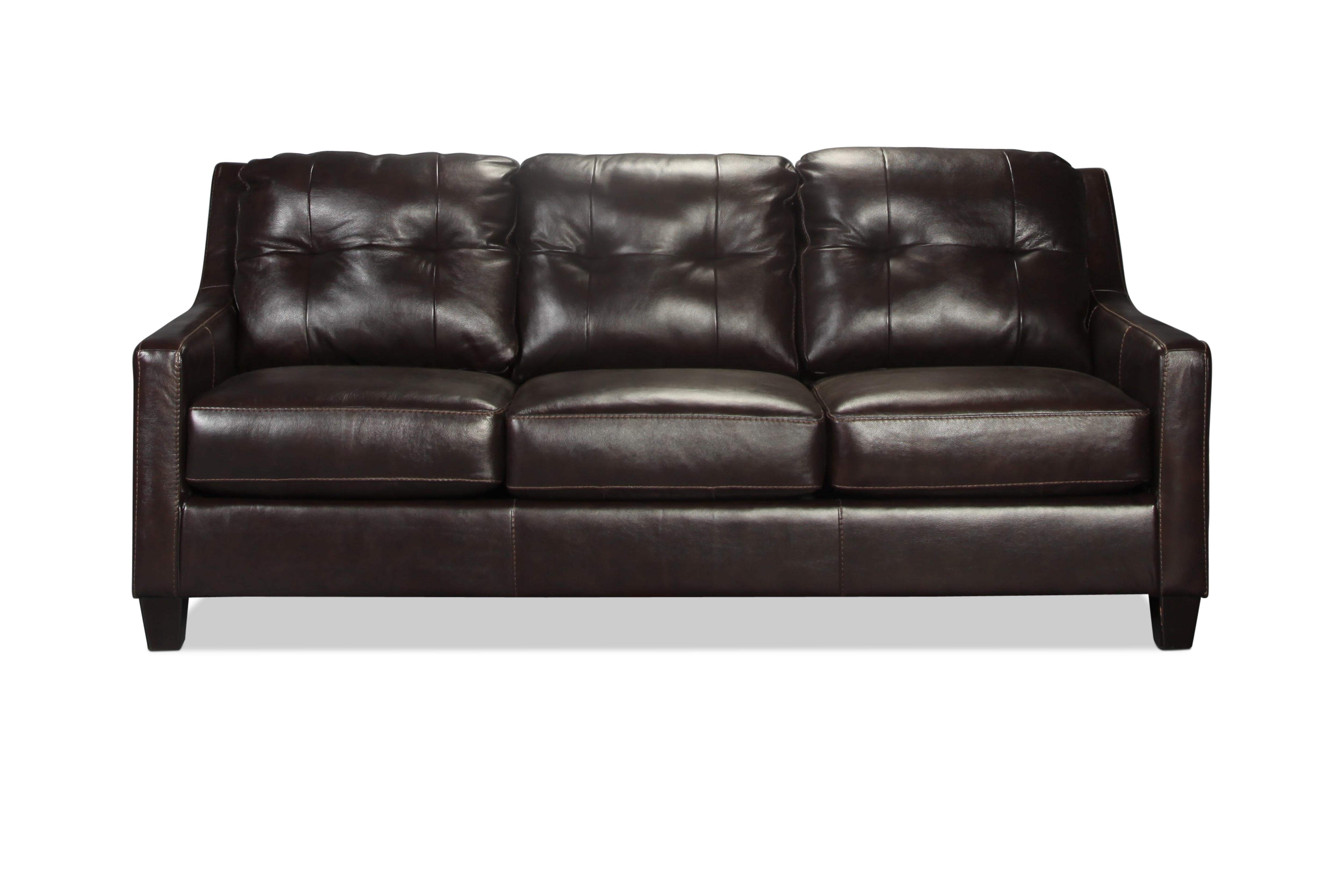 Brookings sofa mahogany levin furniture for Levin furniture sectional sofa
