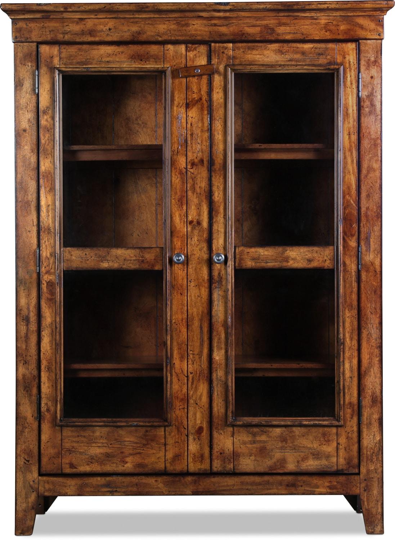 Elkmont Pine Bookcase Curio - Dark Umber