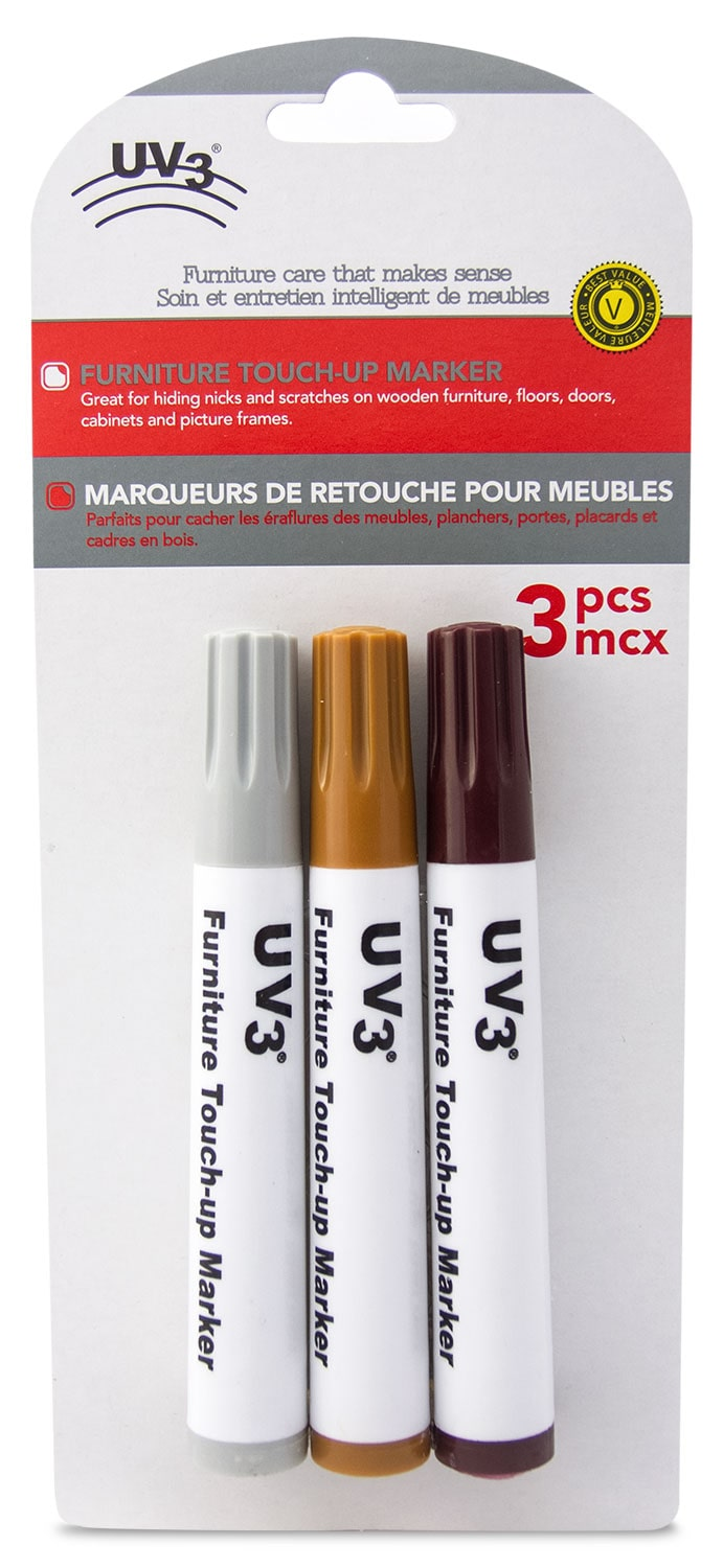 UV3 3-Pack Wood Touch-Up Markers