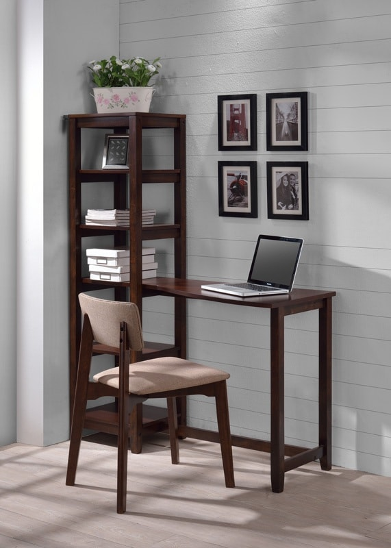 Study Table with Chair- Classic Espresso