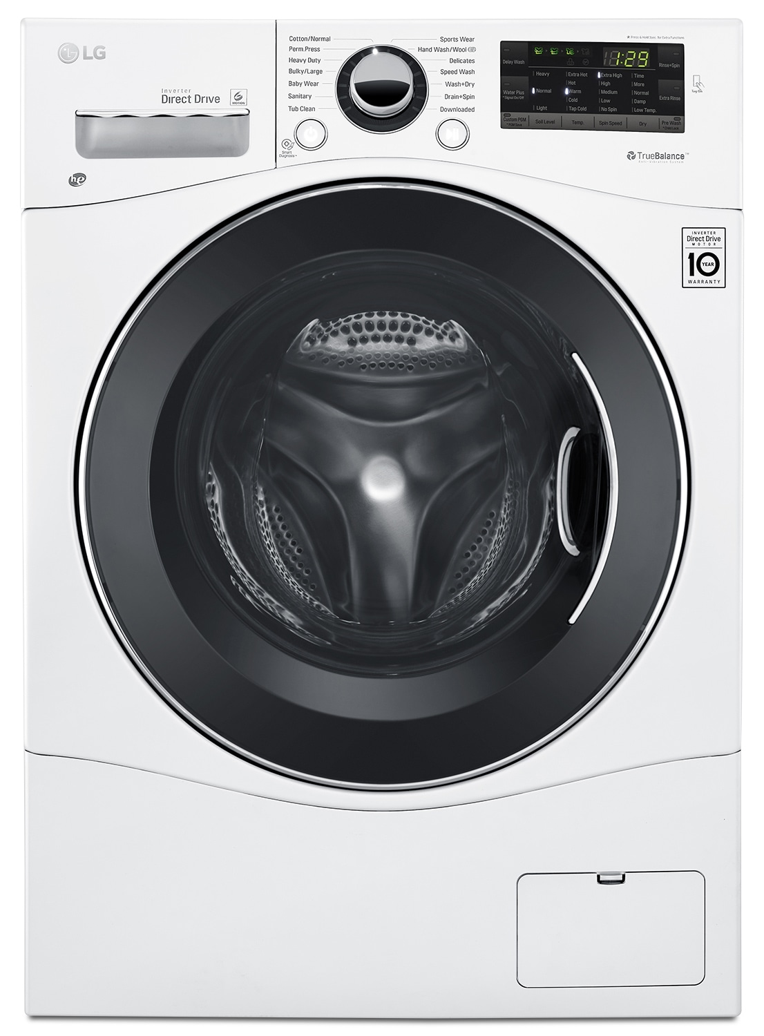 LG 2.6 Cu. Ft. Front-Load Combination Washer and Dryer – WM3488HW