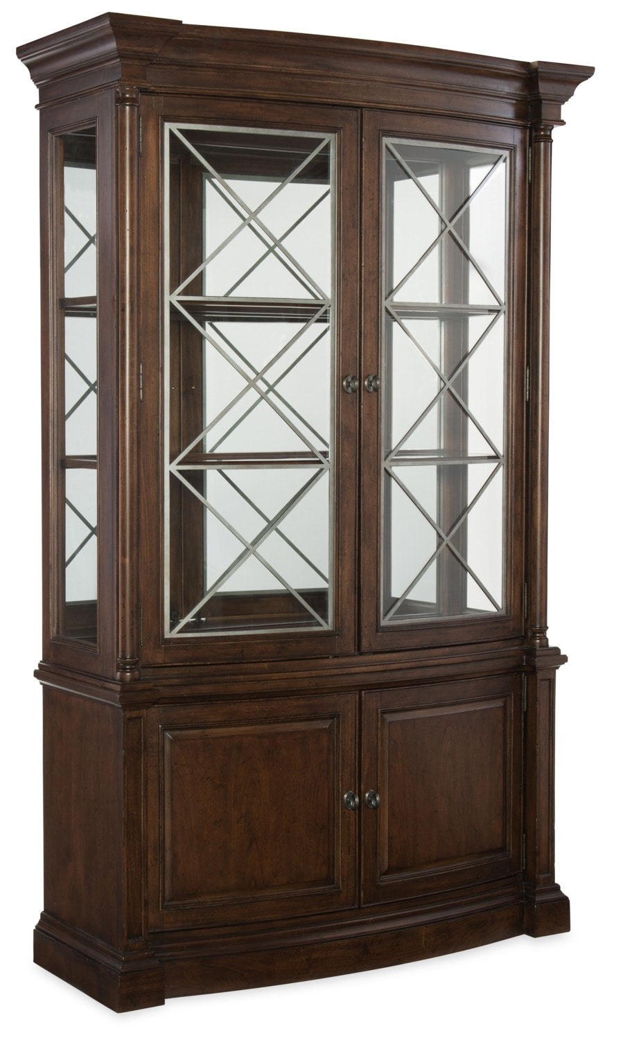 Dining Room Furniture - Rachael Ray Upstate Display Cabinet  - Cherry