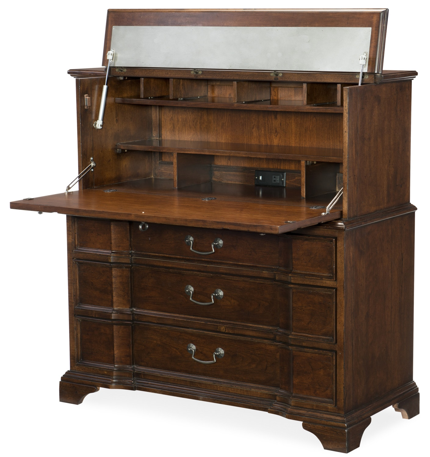 Rachael Ray Upstate Home Office Chest  - Cherry