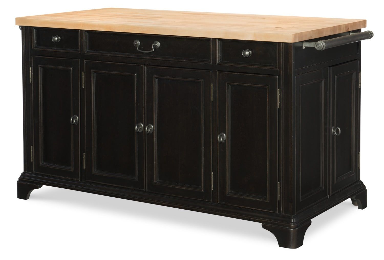 Dining Room Furniture - Rachael Ray Upstate Kitchen Island - Nero Black