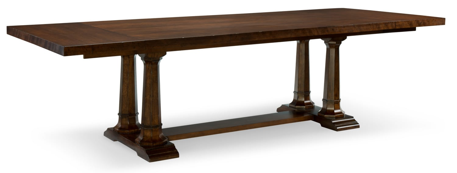 Rachael Ray Upstate Trestle Table  - Cherry