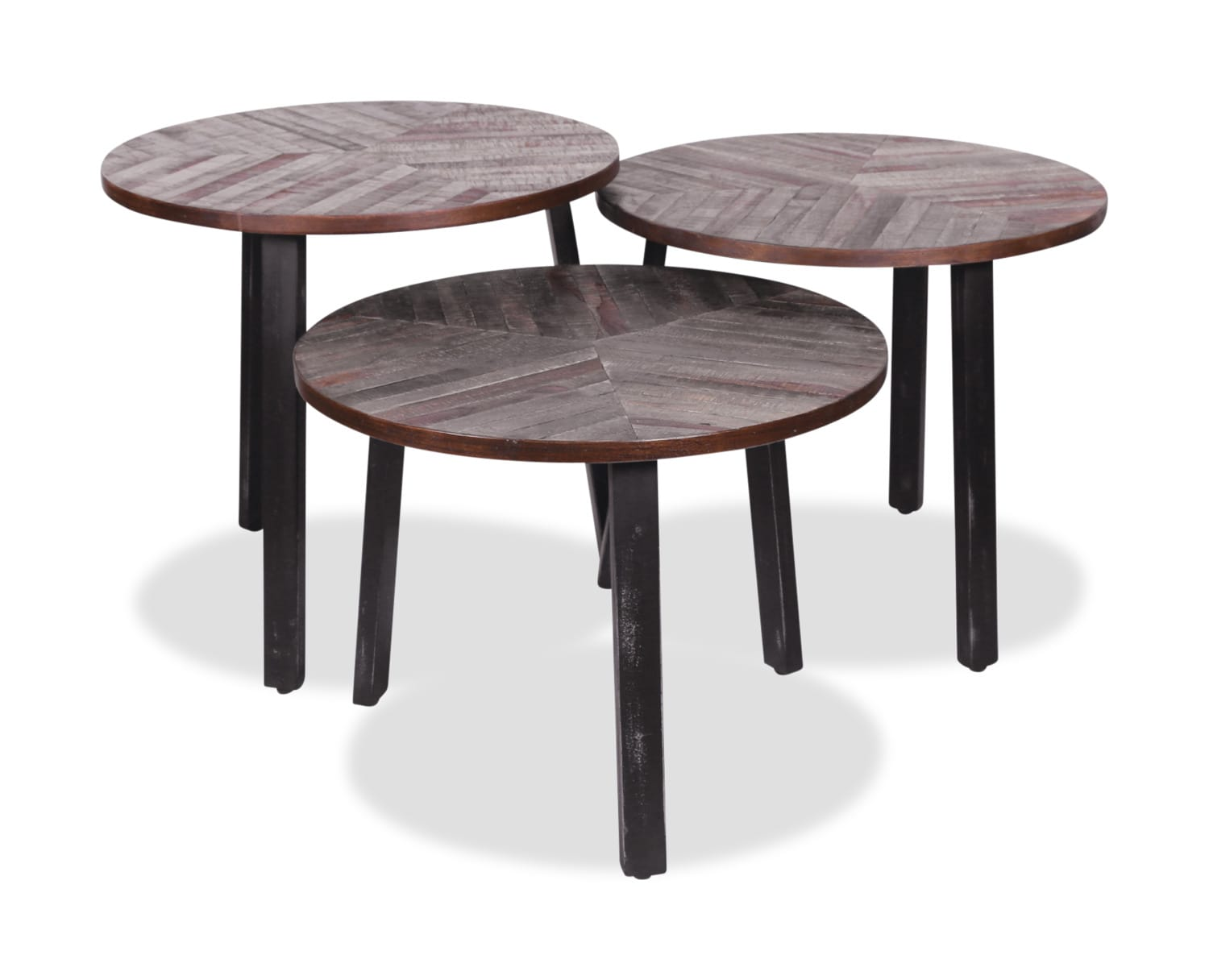 Accent and Occasional Furniture - Three Leaves Accent Tables – Set of 3