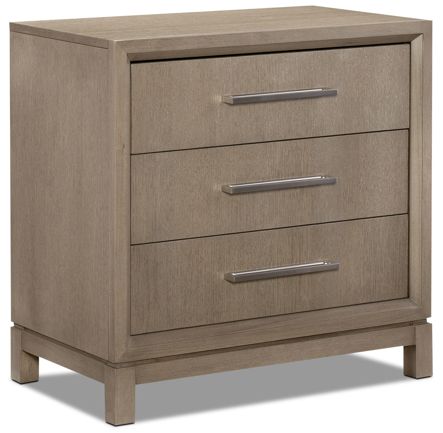 Bedroom Furniture - Rachael Ray Highline 3-Drawer Night Table - Greige