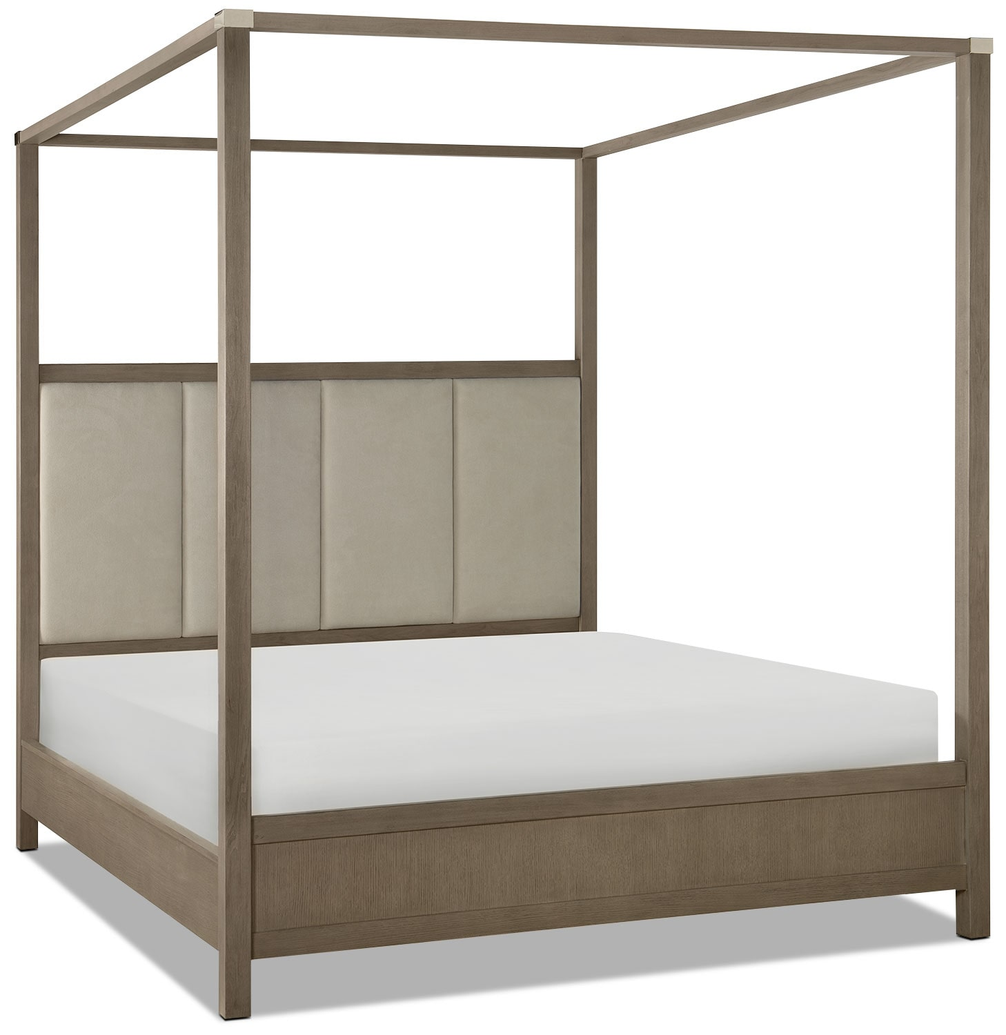 Bedroom Furniture - Rachael Ray Highline Queen Canopy Bed - Greige