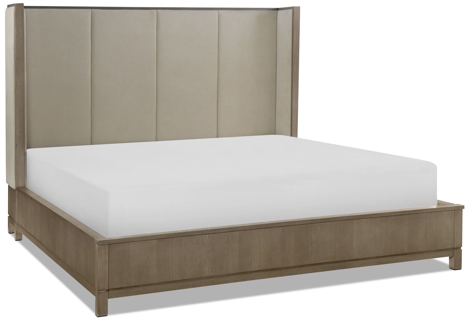 Rachael Ray Highline Queen Shelter Bed - Greige
