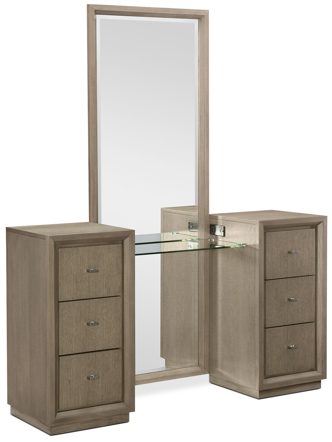 Bedroom Furniture - Rachael Ray Highline 2-Piece Vanity Set - Greige