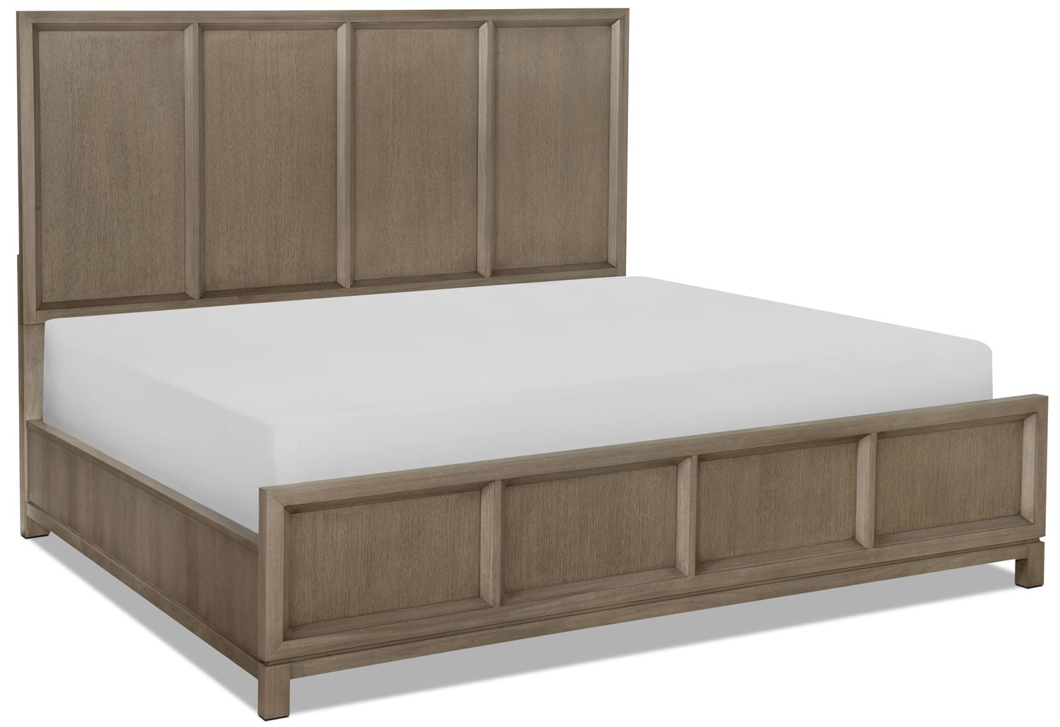Rachael Ray Highline Queen Panel Bed - Greige