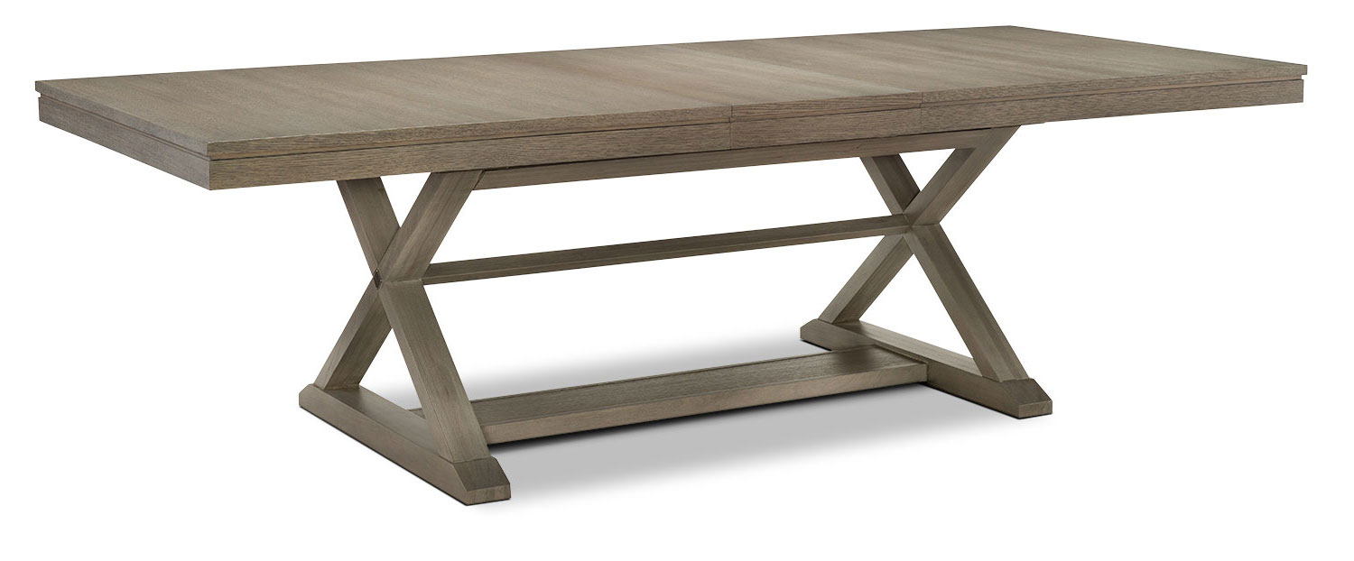 Dining Room Furniture - Rachael Ray Highline Trestle Table - Greige