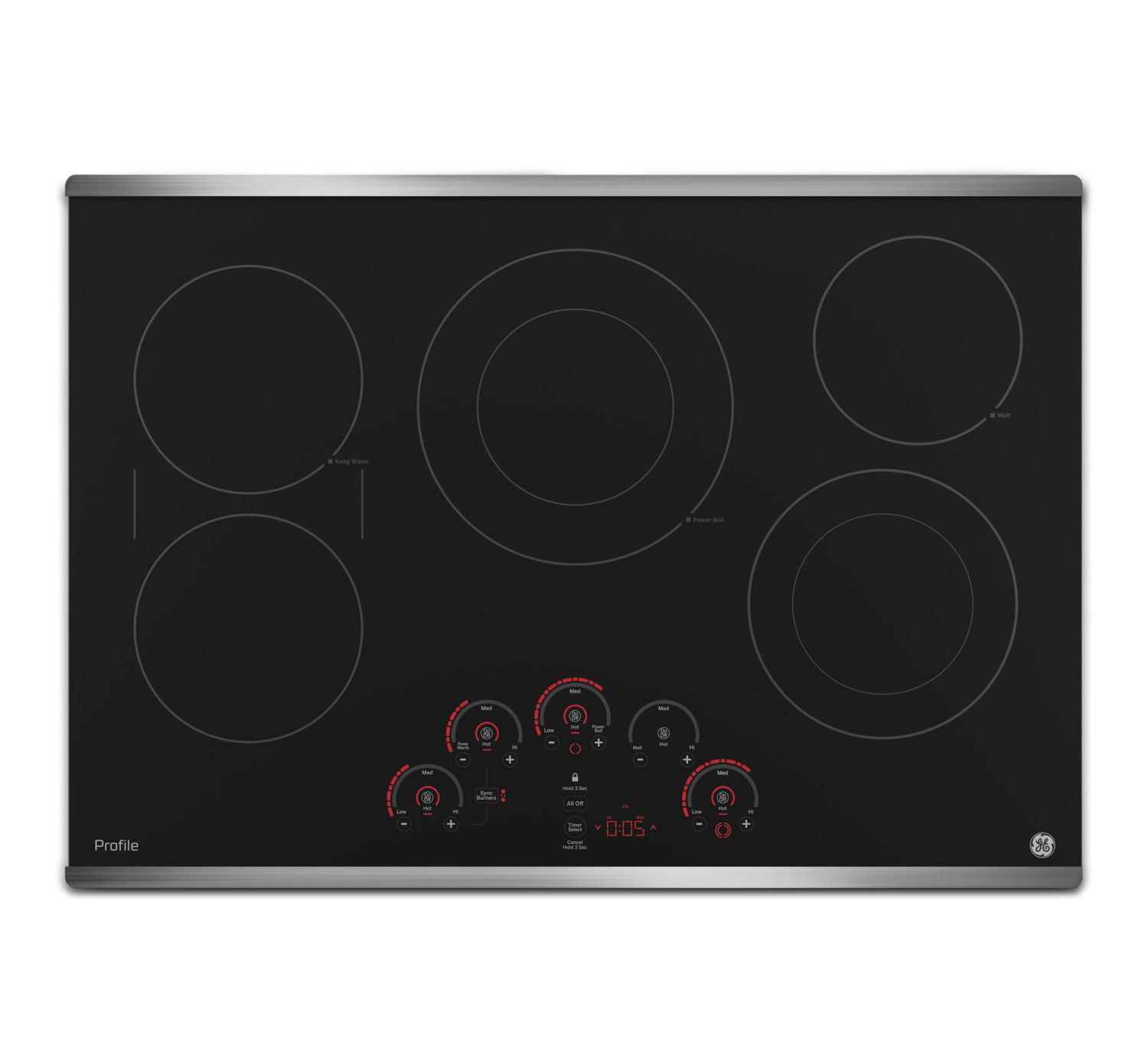 "GE Profile 30"" Electric Cooktop – PP9030SJSS"