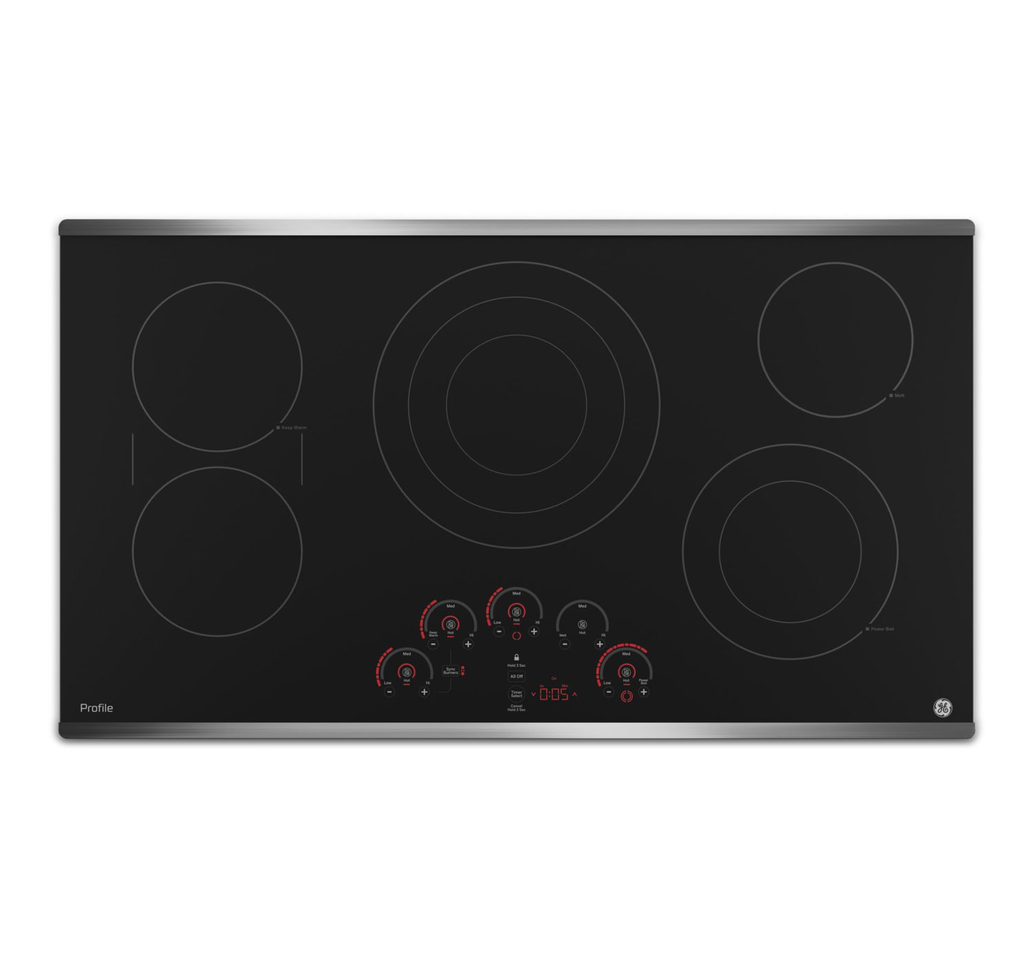 "GE Profile 36"" Electric Cooktop with Built-In Touch Control – PP9036SJSS"