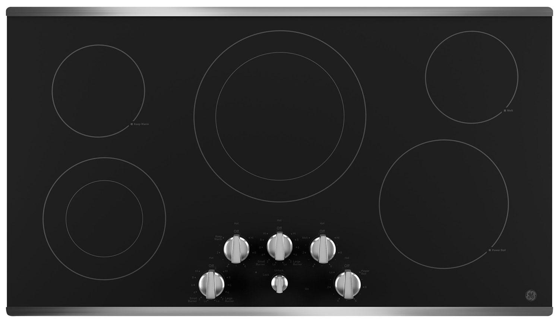 "GE 36"" Electric Cooktop – JP3536SJSS"