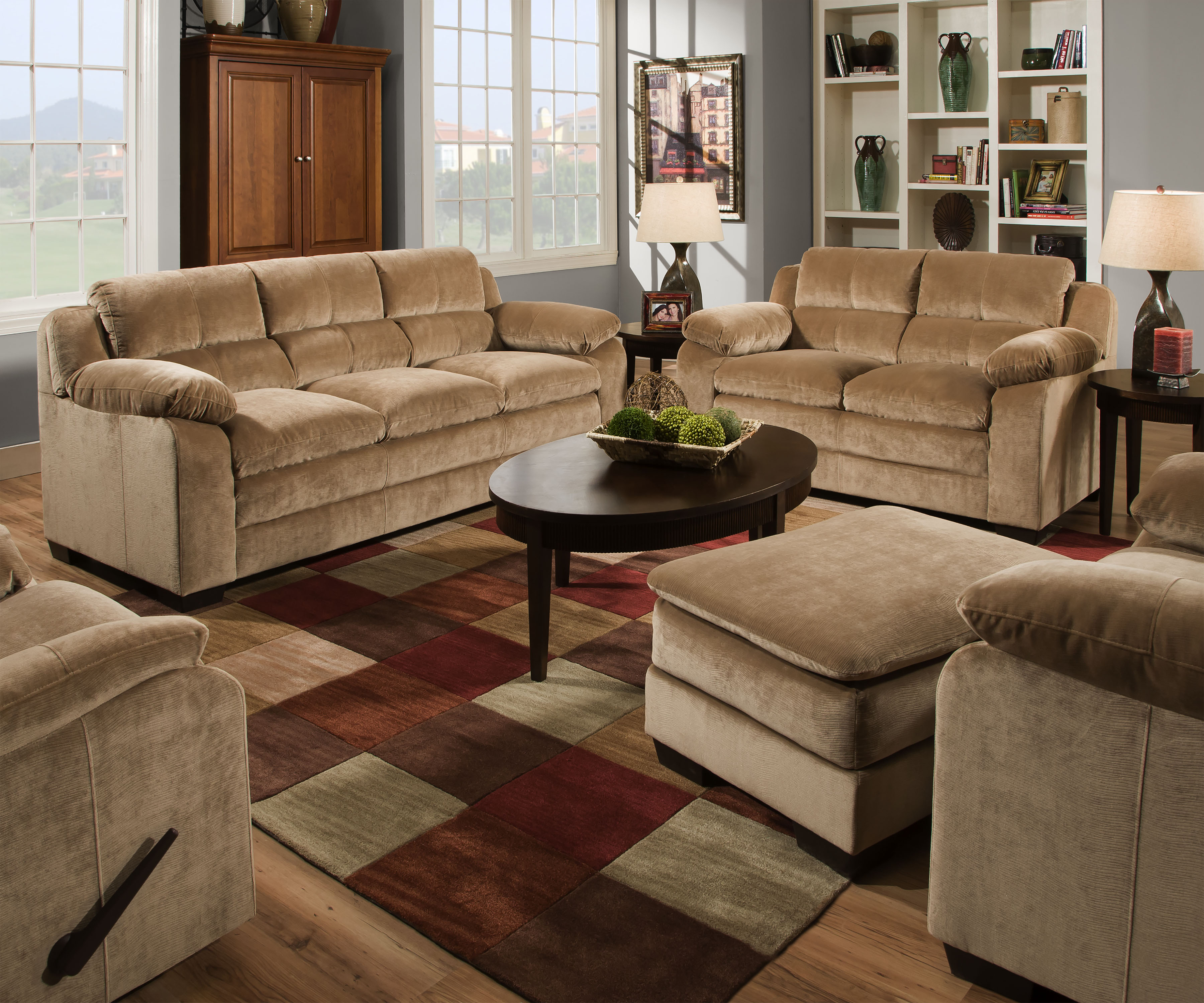 Parry Sofa and Loveseat- Camel