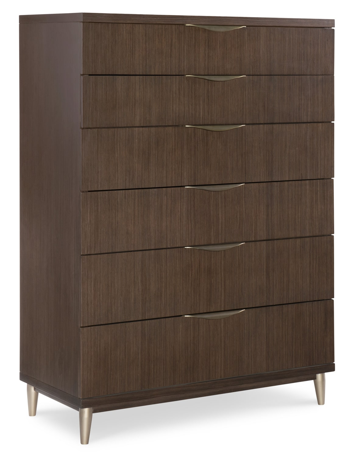 Bedroom Furniture - Rachael Ray Soho 6-Drawer Chest - Ash Brown