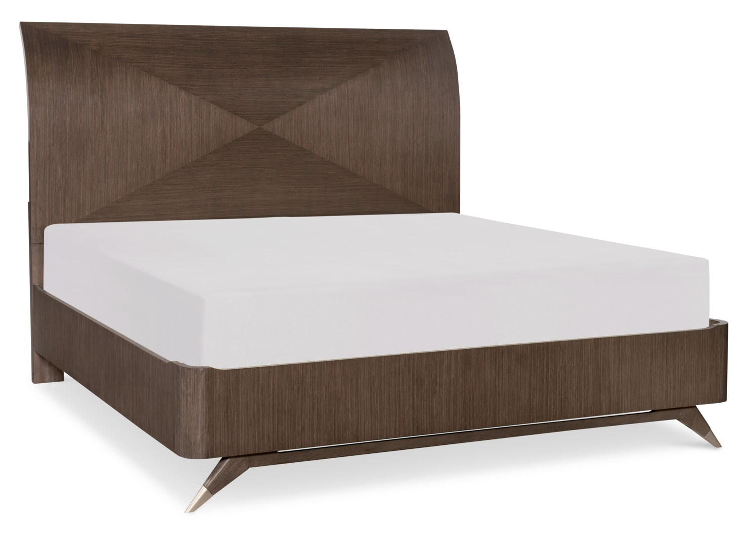 Bedroom Furniture - Rachael Ray Soho King Bed - Ash Brown