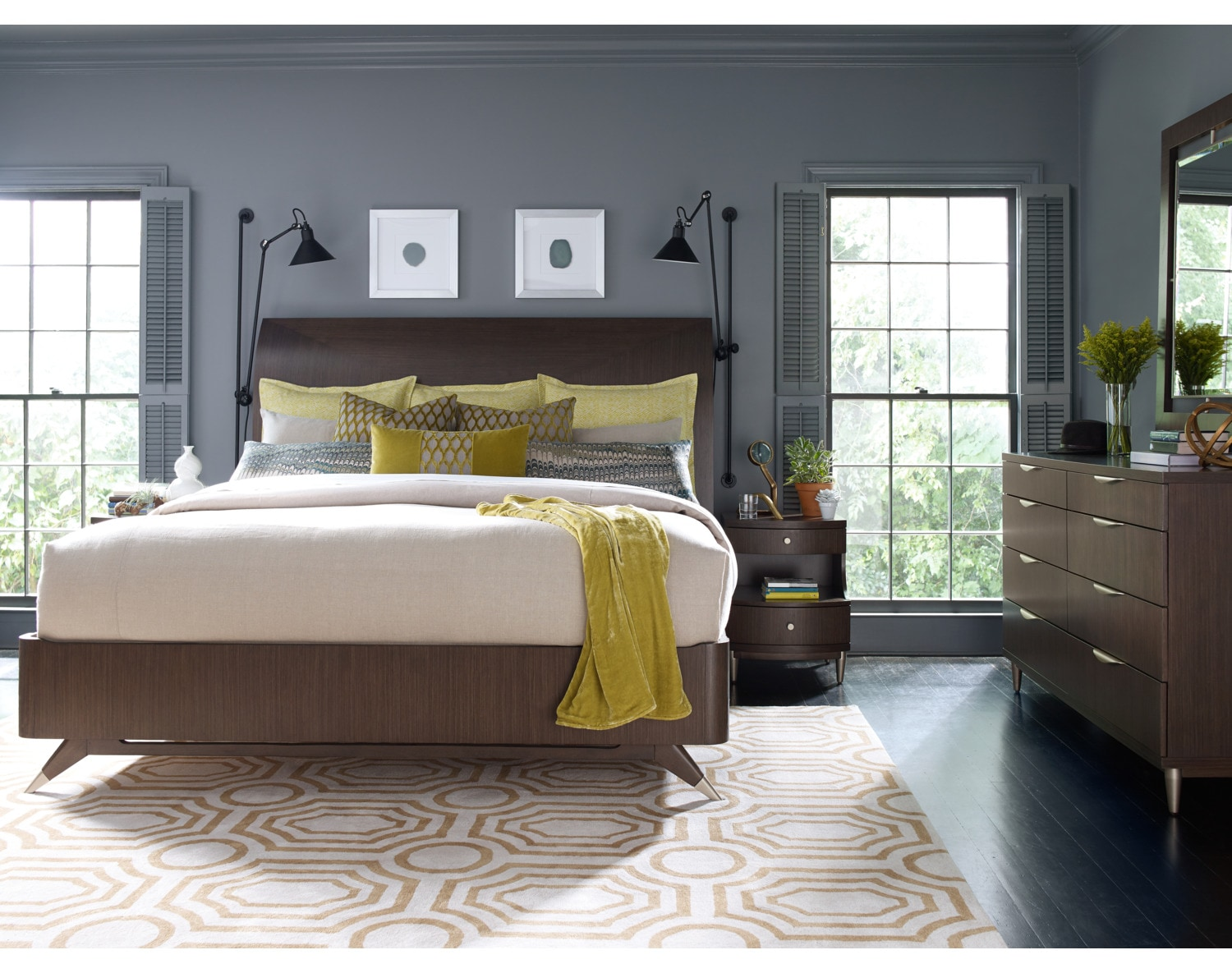 The Rachael Ray Soho Bedroom Collection - Ash Brown
