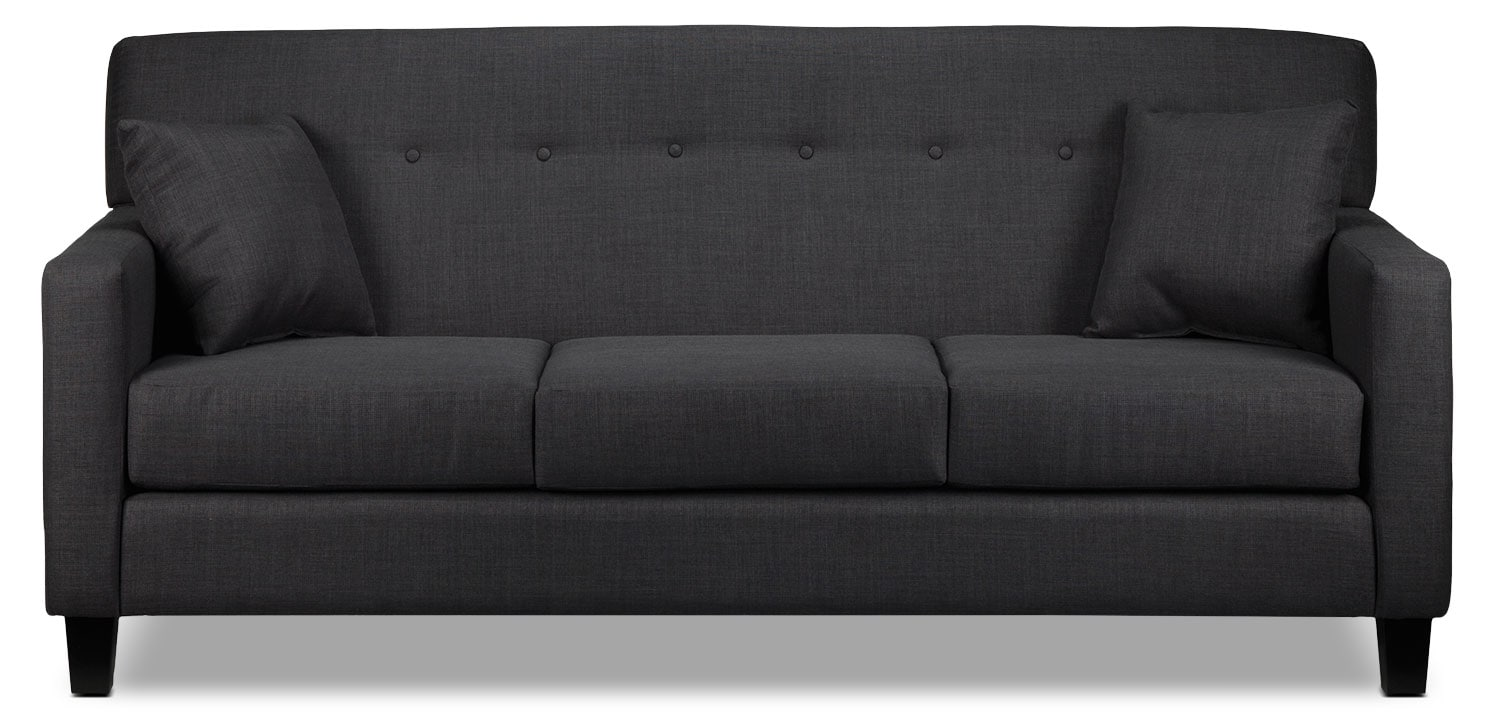 Living Room Furniture - Grant Sofa - Charcoal