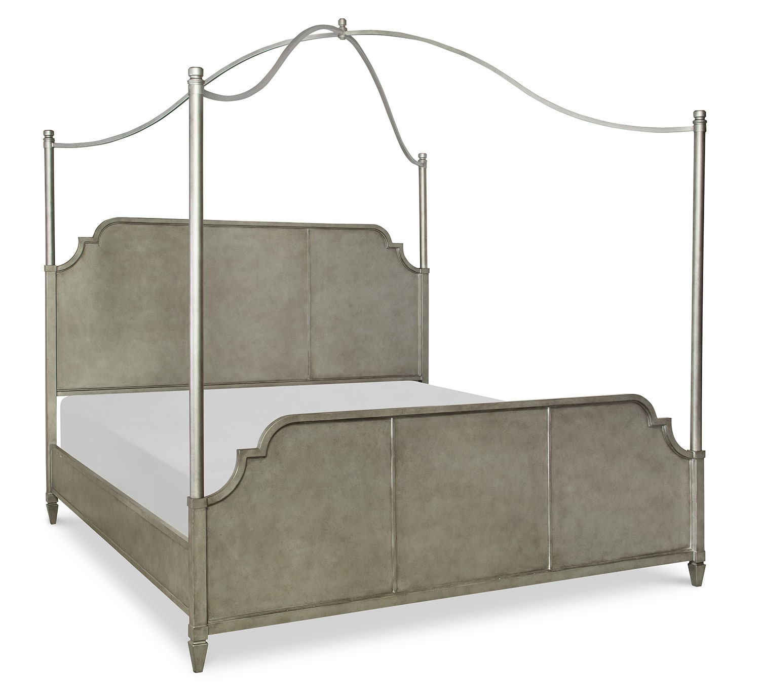 Rachael Ray Upstate Queen Canopy Bed - Pewter